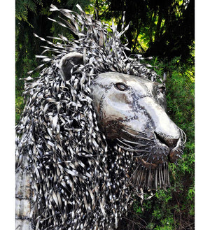 Oil Drum Lion Sculptures - Art & Sculpture Handmade in Africa - Swahili Modern - 7