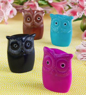 Set of Four Miniature Wise Owls
