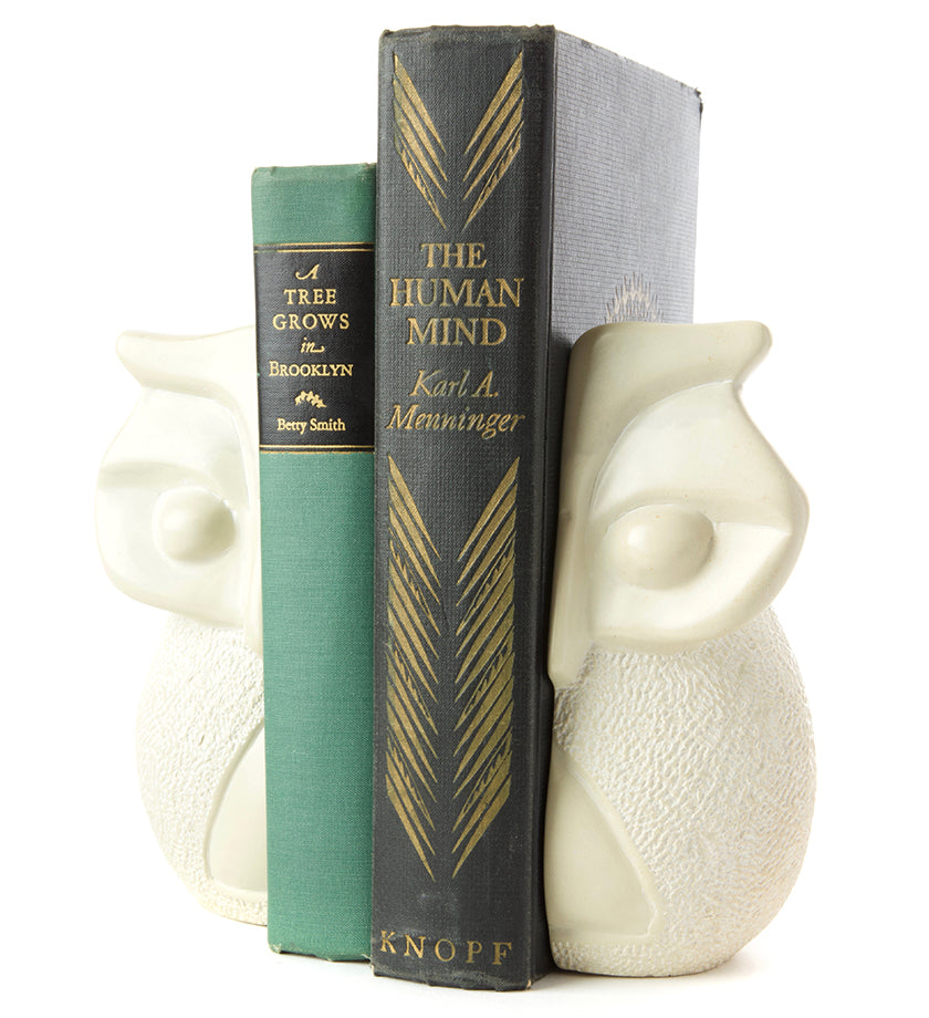 Wise Owl Soapstone Bookends