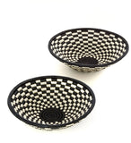 Rwandan Sisal Checkered Baskets