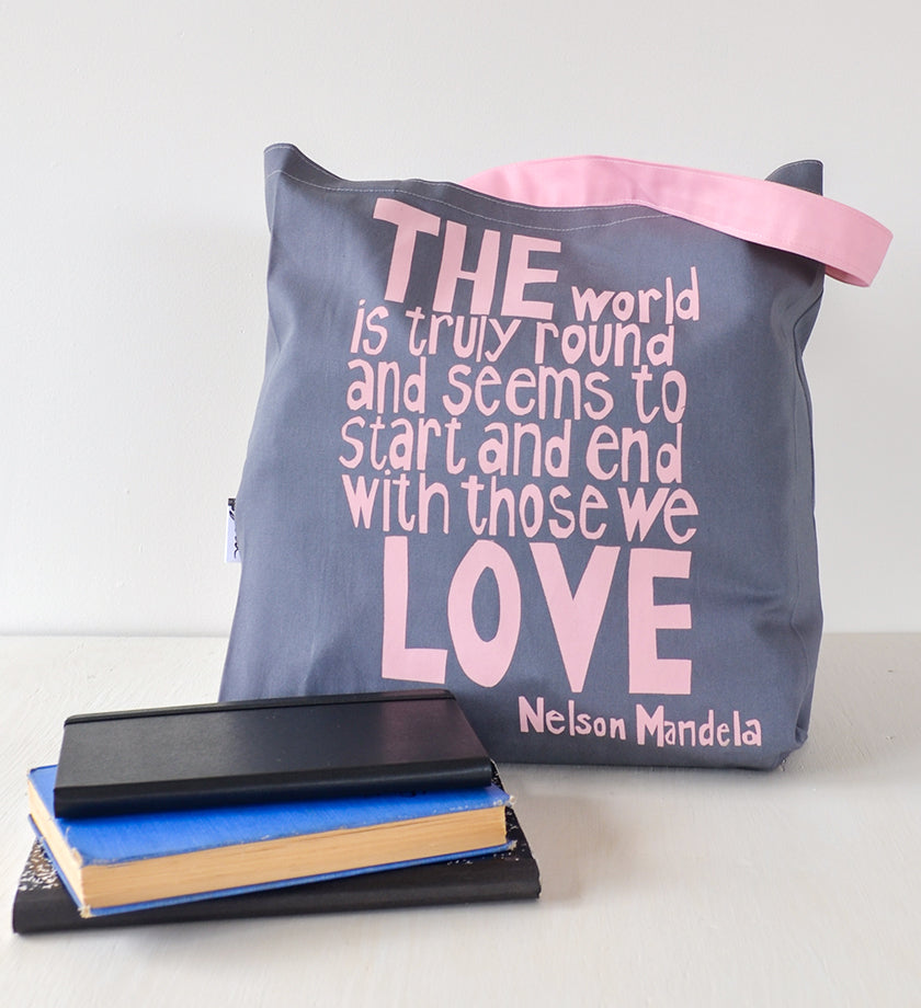 "Dove ""With Those We Love"" Nelson Mandela Tote"