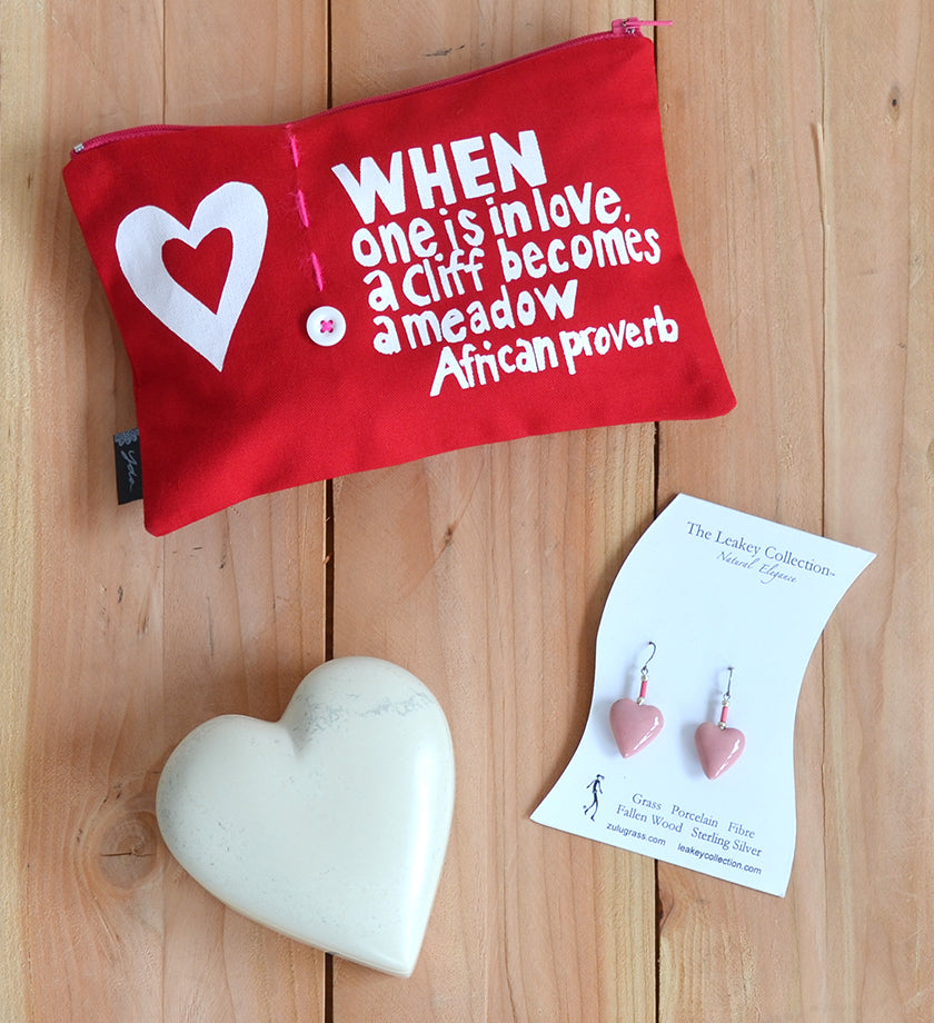 """When One is in Love"" African Proverb Pouch"