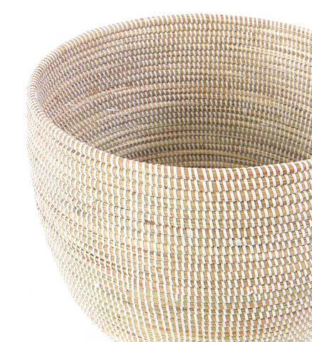 Set of Two White Deep Nesting Baskets - Basket Handmade in Africa - Swahili Modern - 3