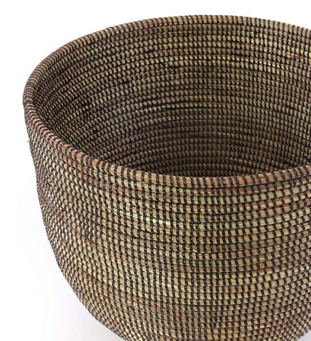 Set of Two Black Deep Nesting Baskets - Basket Handmade in Africa - Swahili Modern - 3
