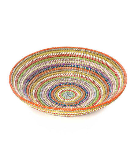 Rainbow Senegal Grain Baskets - Basket Handmade in Africa - Swahili Modern - 1