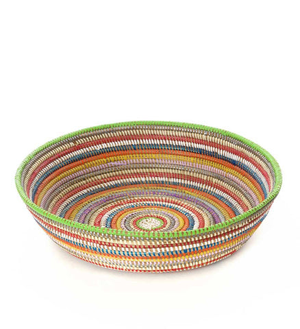 Rainbow Senegal Grain Baskets - Basket Handmade in Africa - Swahili Modern - 3
