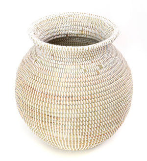 White Rimmed<br> African Kitchen Basket