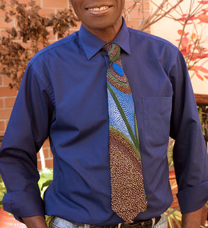 One Colorful Necktie in Assorted African Cloth Patterns