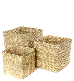 Natural Square Iringa Baskets from Tanzania