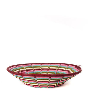 Flower Garden Coiled Raffia Baskets from Uganda