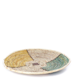 Large Palamino & Sage Colorblock Wall Basket