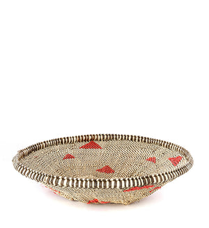Small Plateau Basket with Recycled Plastic Splashes