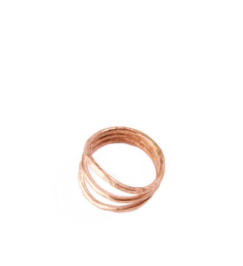 F.R.E.E. Woman Kindred Hammered Copper Ring
