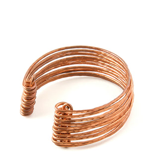 F.R.E.E. Woman Stacked Zambian Copper Cuffs