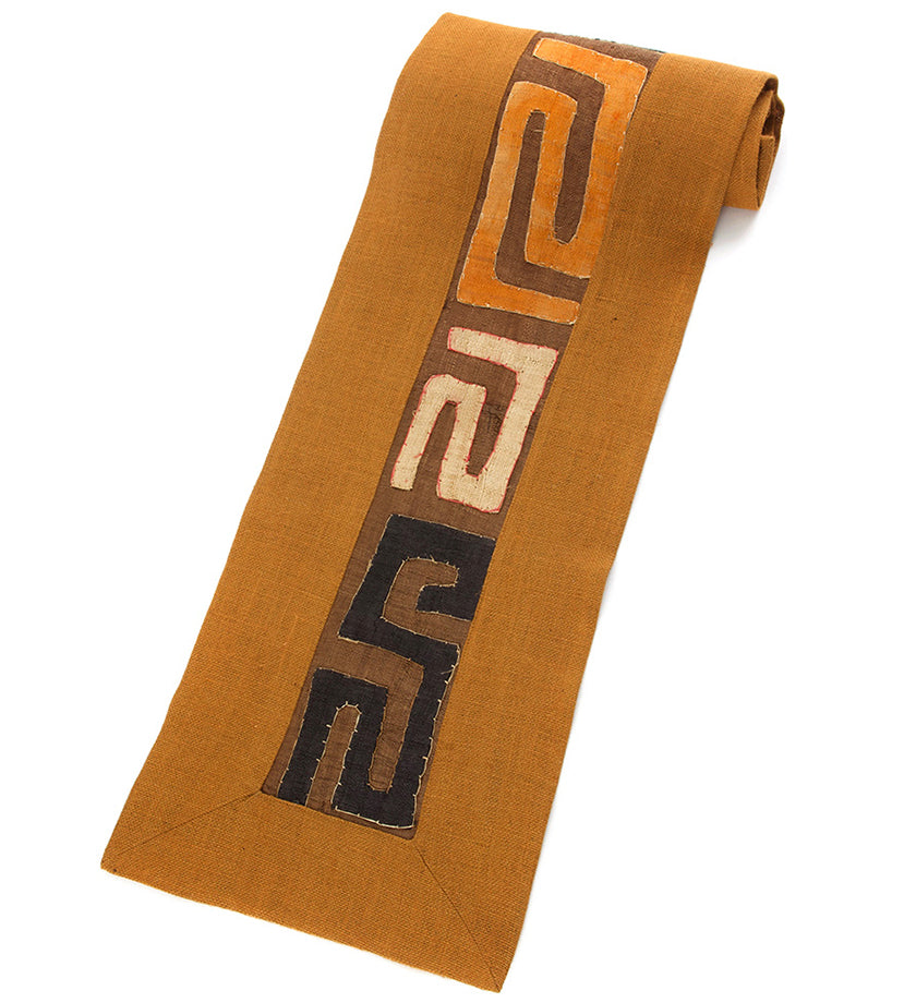 Rust Hessian & Congo Raffia Table Runner