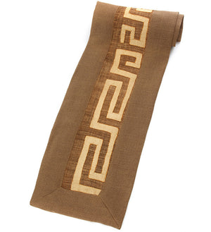 Cocoa Hessian & Congo Raffia Table Runner