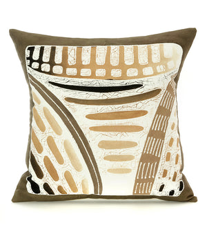 Zambian Forest Honeycomb Hand Painted Pillow