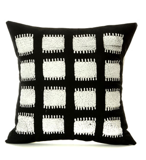 Hand Painted Zambian Tribal Spikes Pillow