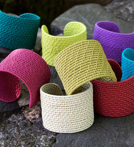 ZenZulu Telephone Wire Cuffs - Basket Handmade in Africa - Swahili Modern - 1