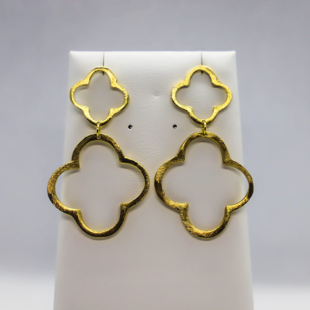 18kt gold plated dangle earrings