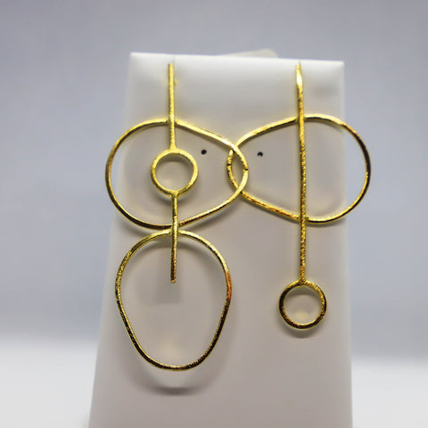 Asymmetrical geometric earrings