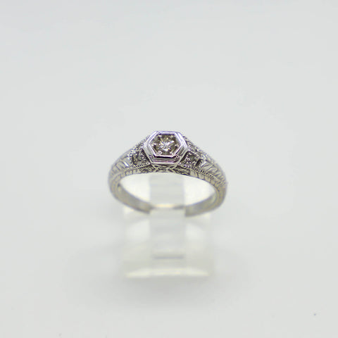 Vintage white gold ring