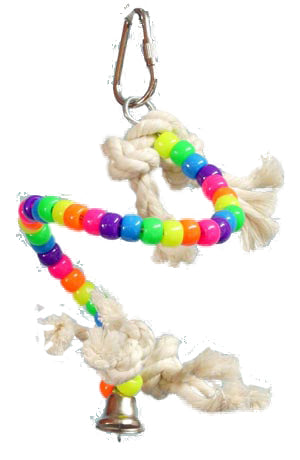 Zoo-Max 074 Spiral Small Bird Toy - Exotic Wings and Pet Things