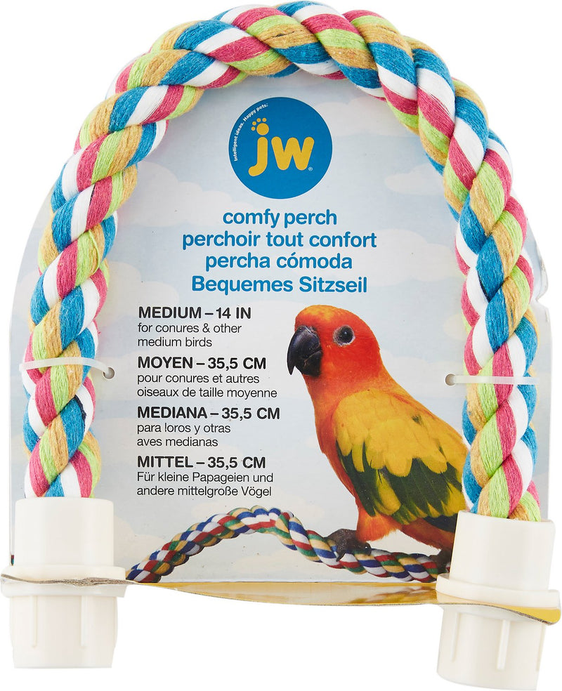JW Comfy Rope Perch Medium - Exotic Wings and Pet Things