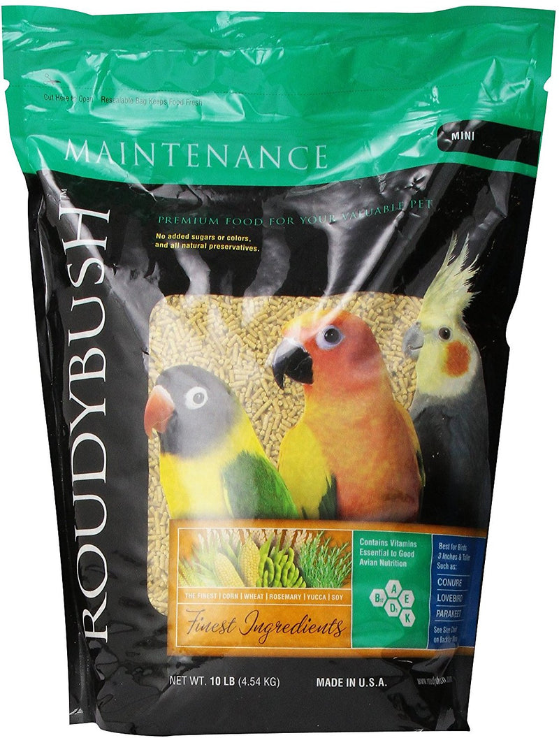 Roudybush Daily Maintenance Mini Pellet Cockatiel/Love Bird/Barred