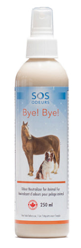 SOS Odours Bye! Bye! Odour Neutralizer for Animal Fur 250ml - Exotic Wings and Pet Things
