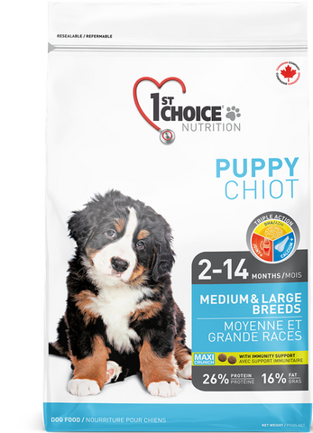 1st Choice Medium & Large Breed Growth Puppy Food