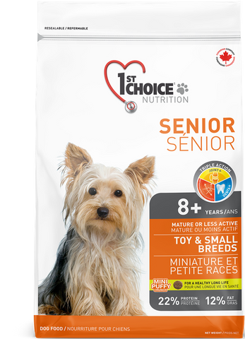 1st Choice Mature/Less Active Toy & Small Breed Senior Dog Food