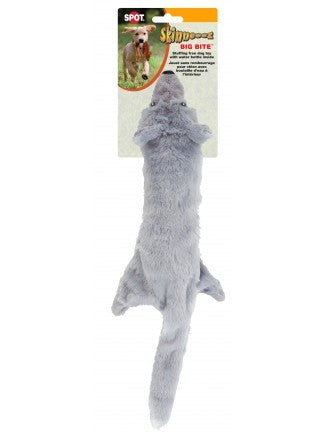 SKINNEEEZ BIG BITE WOLF / BEAR STUFFINGLESS DOG TOY - Exotic Wings and Pet Things