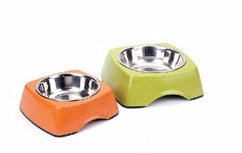Define Planet Rectangular Dish & Stainless Steel Bowl Small - Exotic Wings and Pet Things