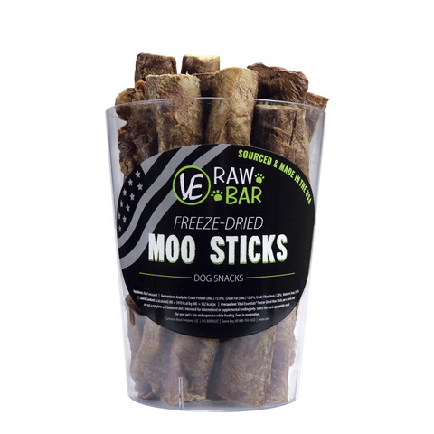 VE Vital Essentials RAW BAR Freeze-Dried Moo Sticks Dog Treat