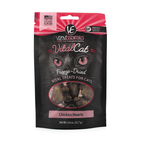 Vital Essentials Chicken Hearts Freeze-Dried Cat & Kitten Treat 0.8 oz