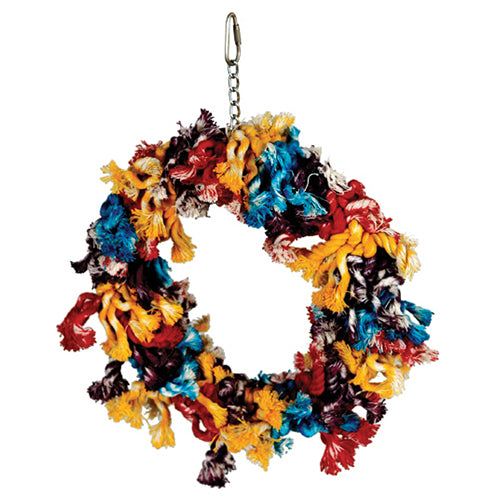 Featherland Paradise Cotton Wreath (Sm/Med/Lg) - Exotic Wings and Pet Things