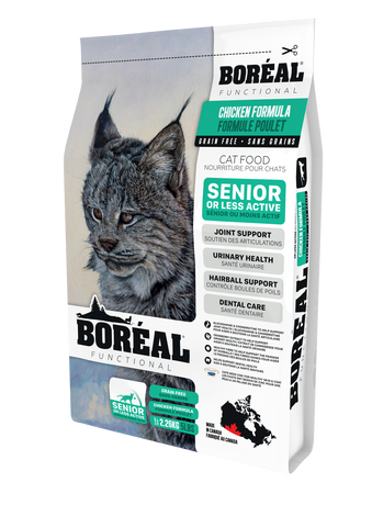 BORÉAL Functional Senior & Less Active Cat Food Chicken 5 lbs