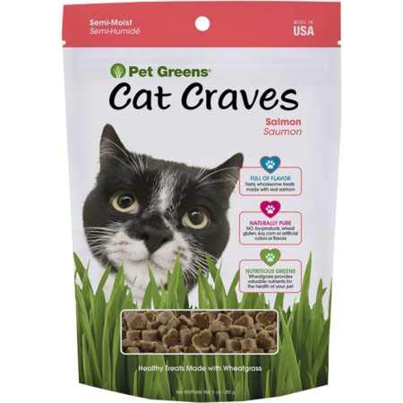 Pet Greens Cat Craves Salmon Flavor Semi Moist - Exotic Wings and Pet Things