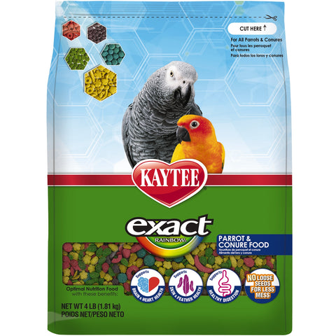 Kaytee Exact Parrot Rainbow Parrot & Conure Pellets - Exotic Wings and Pet Things