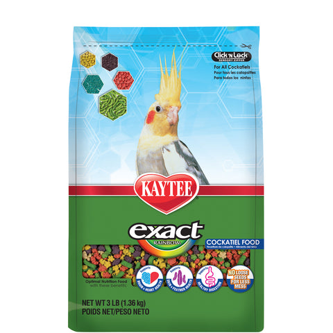 Kaytee Exact Rainbow Cockatiel Pellets - Exotic Wings and Pet Things