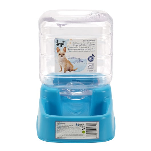 Gravity Waterer by Dogit - 1 L (33.8 fl oz) - Exotic Wings and Pet Things