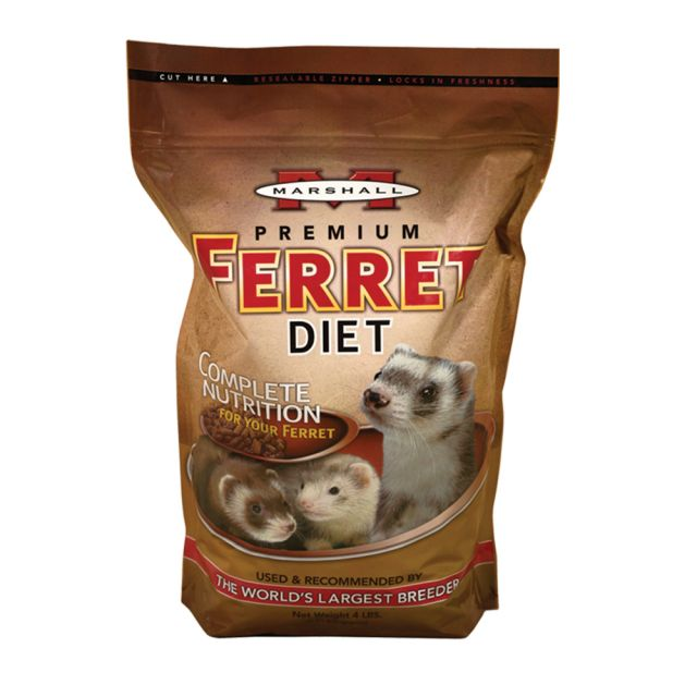 Marshall Premium Ferret Diet 4 lb - Exotic Wings and Pet Things