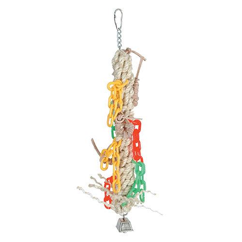 Featherland Paradise MACRAME CHAIN GANG Large Bird Toy - Exotic Wings and Pet Things