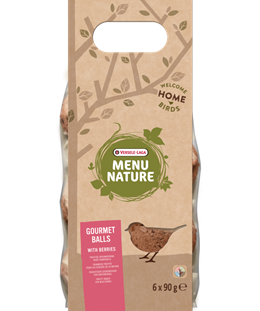 Versele-Laga Menu Nature Gourmet Berry Suet Balls 6 Pack - Exotic Wings and Pet Things