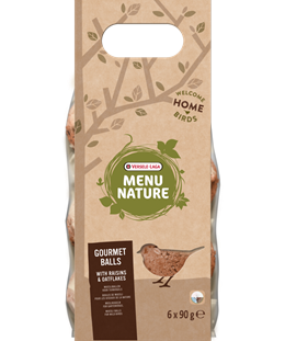 Versele-Laga Menu Nature Gourmet Raisin & Oat Flakes Suet Balls 6 Pack - Exotic Wings and Pet Things