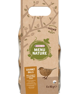 Versele-Laga Menu Nature Gourmet Peanut & Sunflower Seed Suet Balls 6 Pack - Exotic Wings and Pet Things