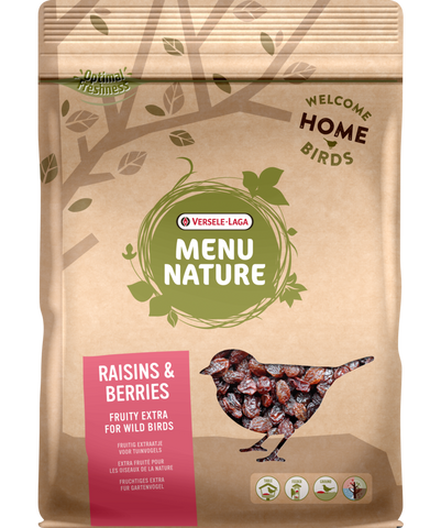 Versele-Laga Menu Nature Raisin & Berry Mix 600 g - Exotic Wings and Pet Things