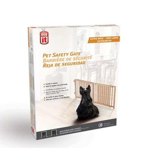 "Dogit Pet Safety Gate - Extra Wide (48""L - 80""W x 18""H)"