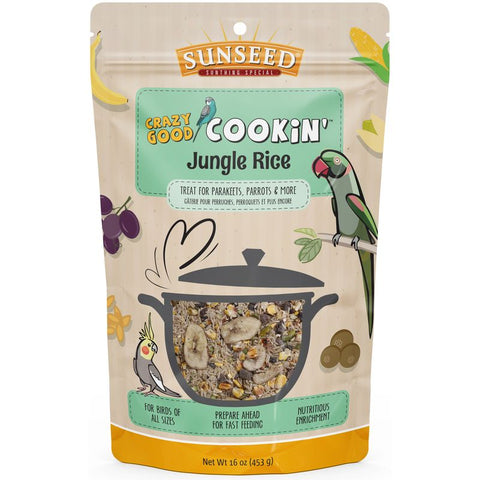 Sunseed Crazy Good Cookin' Jungle Rice 16 oz - Exotic Wings and Pet Things